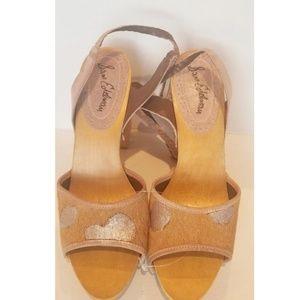 SAM EDELMAN- Animal Print wooden block heels Rare